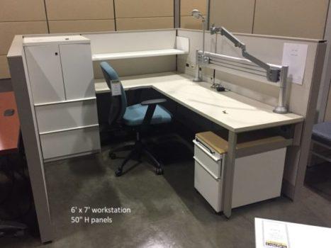 Knoll Used Mid-height Workstation, 6' x 7'