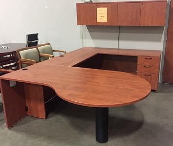 Steelcase Cherry Laminate U-Group  $750.00